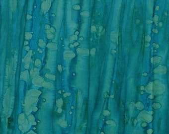 Blossom Batiks Turquoise Stripes RJR Fabric 1 yard