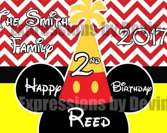 Boy Mouse inspried Birthday Stroller sign ( Printable File)