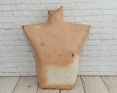 Vintage Wall Hanging Male Chest Mannequin Form Display Paper Mache Cardboard