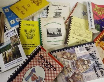 Lot 100 RANDOM Cook Books Vintage Spiral Bound Church Promotional Cookbook