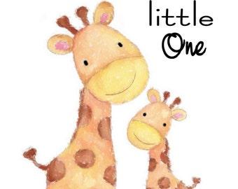 Nursery Print Giraffe , Home decor, Wall Art,Baby's Gift, Children's Room Boys Room, Girl's Room baby gift, Watercolor art ,digital print