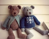 """Download Now - CROCHET PATTERN Dressed Up Bears - 19"""" Teddy Bears and Outfits - Pattern PDF"""