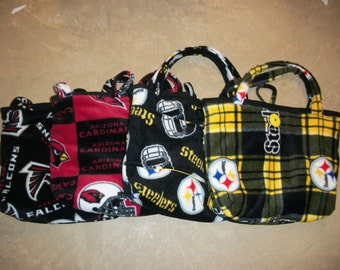 Fleece Diaper Bag (Choose Atlanta Falcons, Arizona Cardinals, Pittsburgh Steelers Plaid or Traditional Pattern)