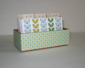Address Card File…Bamboo...Wedding Guest Book Alternative...Address Book...Printed Address Cards