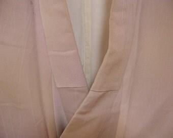 Vintage kimono S294, pale beige silk