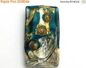 ON SALE 40% OFF Glass Lampwork Bead - Teal Treasure Kalera Focal Bead 11819303