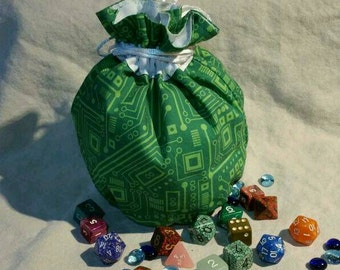 My Pretty Dice Bag - Circuit Board Edition
