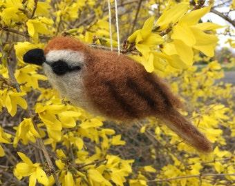Wool Felt Chipping Sparrow Ornament