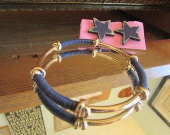 Navy blue bangle stars