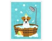 290D Dog Print - Jack Russell Dog in Bubble Bath Wall Art  - Jack Russell Print - Bathroom Art - Bath Print - Dog Art - Dog Gift - Dog Decor
