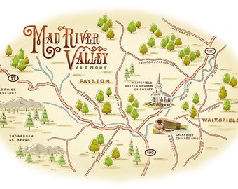 Mad River Valley map