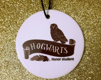 Hogwarts Harry Potter ornament honor student