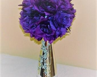 Pomander Ball wedding topiary Flower Decoration Kissing Ball Centerpiece wedding centerpiece silk flower kissing ball flower balls wedding