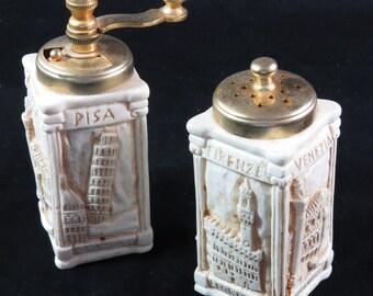 Italian Cities Salt and Pepper Set Rome Florence Pisa Venice