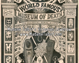 Madame Talbot's Victorian Lowbrow Museum of Death Poster