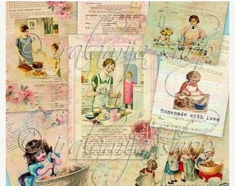 SALE BAKING Collage Digital Images -printable download file-