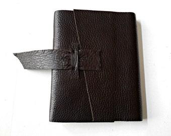 Dark Chocolate Leather Journal