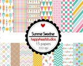 DigitalScrapbooking SummerSweetner - InstantDownload