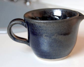 Shaving Scuttle in Midnight Blue for Men Traditional Wet Shave