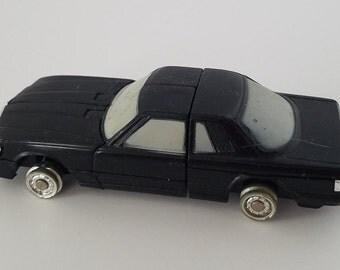 This is a 1984 Black Mercedes Tonka Bandi Gobot/Transformer