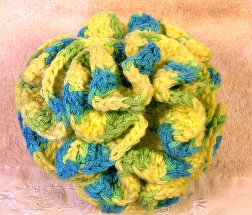 Bath Puff Shower Loofahbath Pouf Jumbo 100 Percent Cotton Crochet