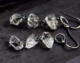 Gemstone Earrings, Herkimer Diamond Earrings,  Herkimer Earrings, Herkimer Diamond, Dangle Earrings, Drop Earrings,