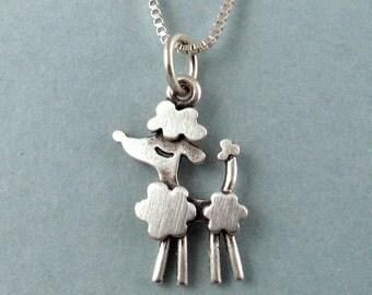 Tiny poodle necklace / pendant