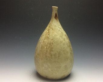 Gold Crystalline Teardrop Vase
