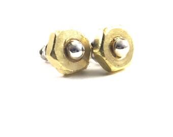 Stud Earrings Brass Hardware Jewelry Post Earrings