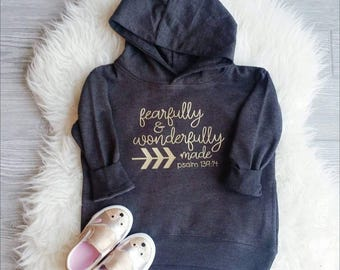 Fearfully and Wonderfully Made - kids hoodie