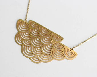 Striped Cloud Necklace | Large | ATL-N-132