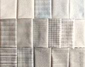 Japanese Taupe fabrics - 16 light to medium fat eighths