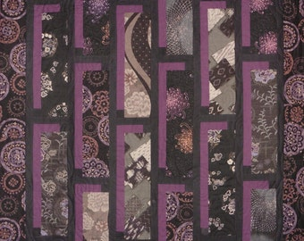 Patchwork Quilt - purple and black Japanese Shadowbox