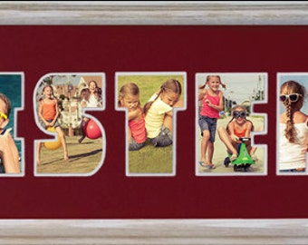 SISTERS Custom Photo Collage (frame not included in price) 8x26