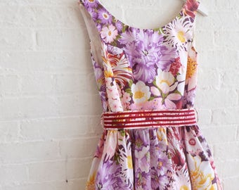 Tea dress { plum } size 8 - 10