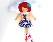 Cloud Girl // Unique, one of a kind, handmade doll // perfect gift