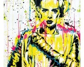 ON SALE Bride of Frankenstein - 12 x 18 High Quality Art Print