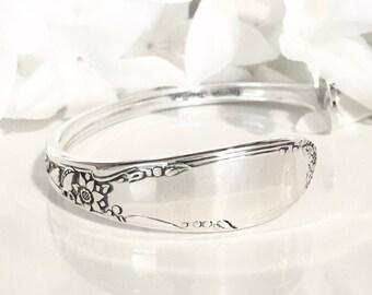 Spoon Bracelet Cuff, STERLING Silver Bracelet Cuff, Sterling Silver Cuff Bracelet, STERLING Silver, Spoon Jewelry - 1942 VIRGINIAN