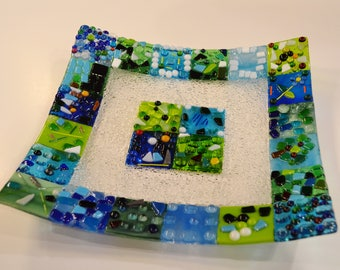 Auction class project fundraising glass fused platter