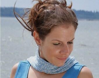 Summer sky shades bamboo skinny scarf