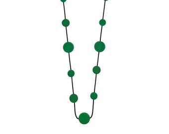 contemporary fashion green necklace, modern jewellery, funky design by Frank Ideas