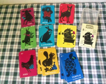 Watkins Strathmore Co. Animal Rummy 36 Card Deck Western Printing & Lithographing Company