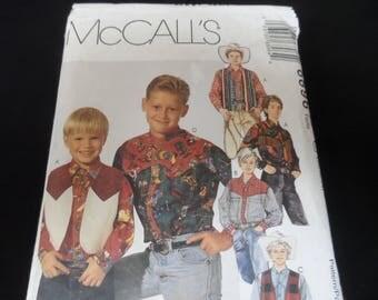 McCalls 6869 Boy's Cowboy Western Shirt Vest Pattern Sizes 10, 12, 14