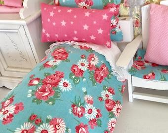 "Barbie/Blythe Doll Bedding Set and Mattress- 11"" doll sized bedding"