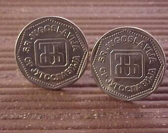 Yugoslavia Coin Cuff Links