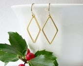 Simple Diamond Dangle Earrings
