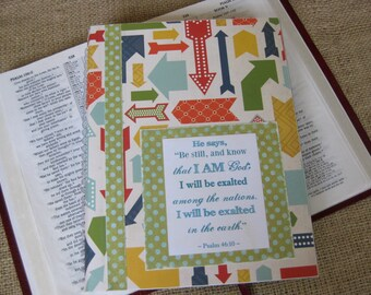 Legacy Prayer Journal, Bound Book, Multicolored Arrows with Green & Turquoise Polka Dot Accents