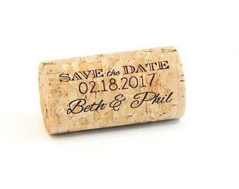 Save the Date, Whole Wine Corks - Wedding, Birthday or Special Occasion