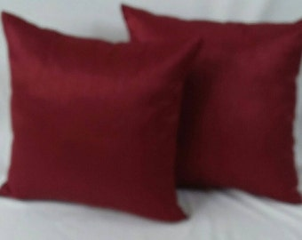 Maroon art silk pillow. Decorative  cushion cover   26 inch euro shams.  On sale of 2 pcs on 20% discount.