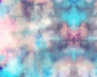 Pink and Blue Tie Dye Fabric - Dream Five By Beththompsonart - Modern Abstract Watercolor Cotton Fabric By The Yard With Spoonflower
